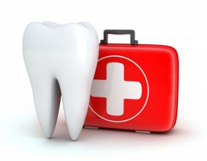 an image of a tooth and first aid kit