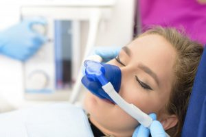 girl receiving nitrous oxide sedation