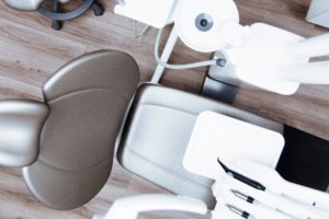 Image of a clean dental chair at the dentist.